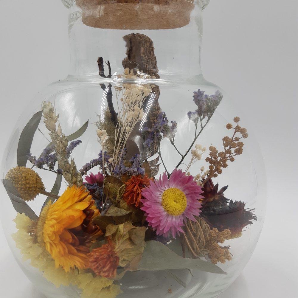Fiole fleurs séchées