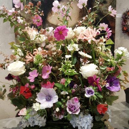 votre artisan fleuriste vous propose le bouquet : Composition piquée