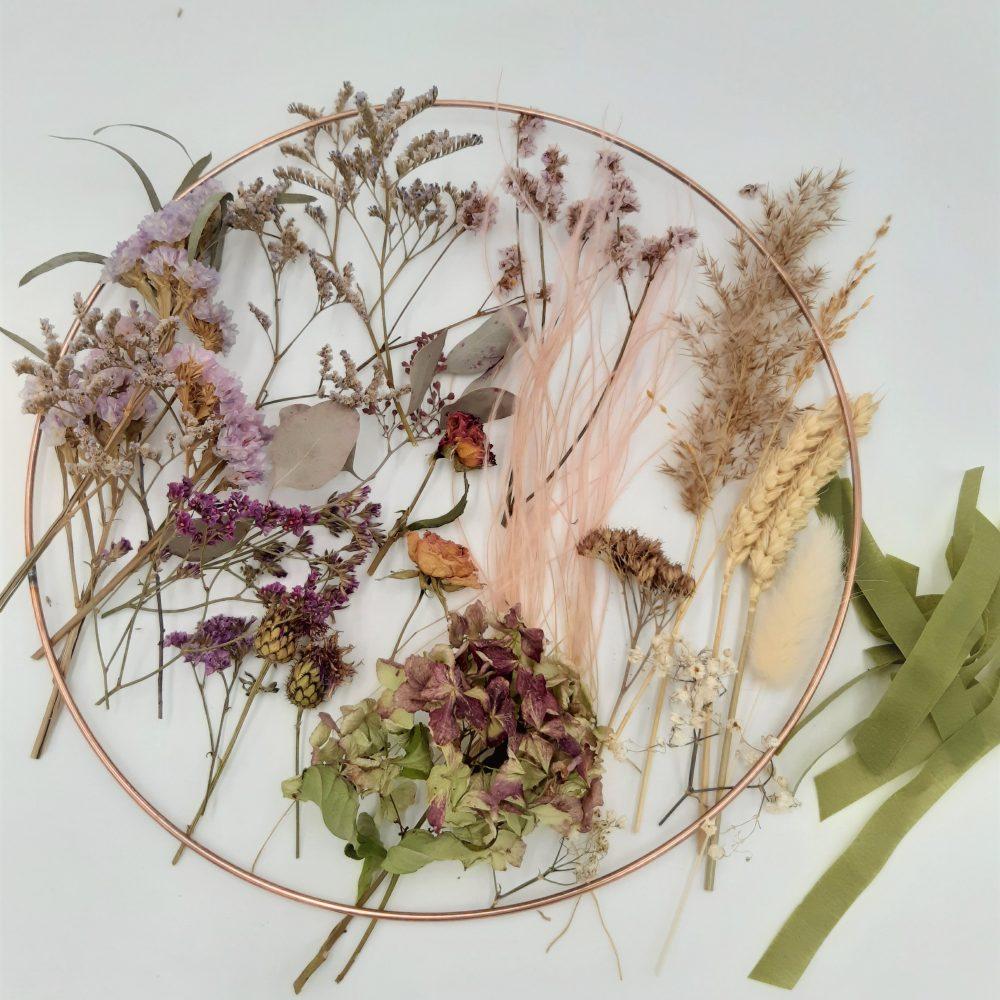 Kit DIY Couronne de fleurs séchées