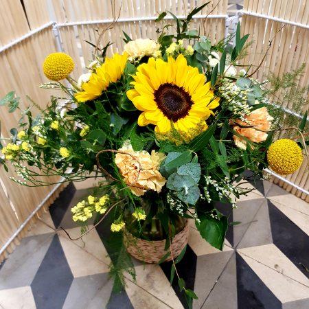 votre artisan fleuriste vous propose le bouquet : Sunny