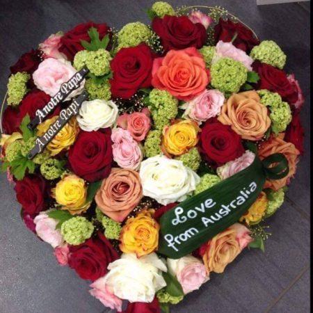votre artisan fleuriste vous propose le bouquet : Composition de deuil