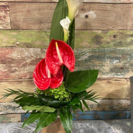 votre artisan fleuriste vous propose le bouquet : René