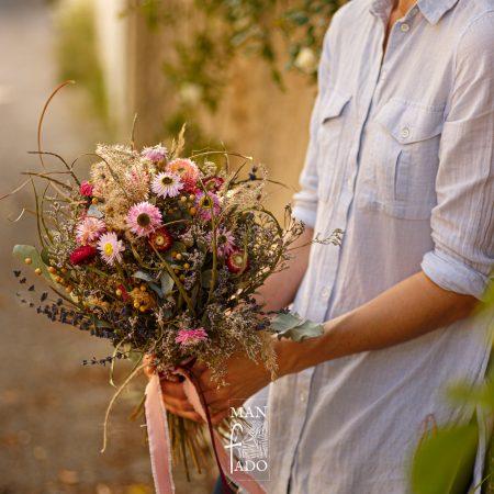 """votre artisan fleuriste vous propose le bouquet : Bouquet de fleurs séchées """"Espeli"""""""